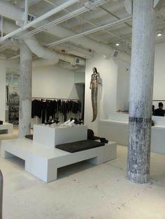 Rick Owens store interior,  Miami