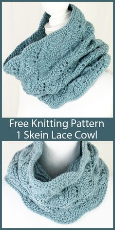 Nov 2019 - Free Knitting Pattern for One Skein Confirmation Cowl - Lace cowl knit in the round. Uses one skein yards) of Worsted weight yarn. Designed by Shannon Dunbabin for Cascade Yarns. Lace Knitting, Knitting Patterns Free, Knit Patterns, Knit Crochet, Knitting Scarves, Double Crochet, Crocheted Scarves Free Patterns, Snood Knitting Pattern, Knitted Cowls