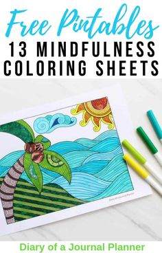 Relax and recharge with these 13 free, printables mindfulness coloring sheets for adults. #freeprintables #coloring #freecoloringsheets #adultcoloring Colouring Sheets For Adults, Coloring Pages For Grown Ups, Free Coloring Sheets, Free Adult Coloring Pages, Printable Coloring Sheets, Colouring Pages, Coloring Books, Mindfulness Colouring Sheets, Journal Prompts For Teens