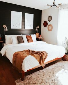 Mid Century Modern Bedroom Design Ideas « Home Decoration - Home Design Dream Bedroom, Home Bedroom, Black Master Bedroom, Master Suite, Bedroom Inspo, Master Bedroom Design, Bedroom Designs, Bedroom Interior Design, Modern Boho Master Bedroom