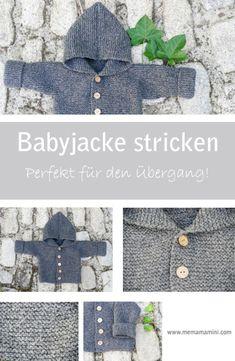 Baby Jacke stricken, Jäckchen stricken, stricken für Babys, Jacke für den Übergang stricken, Wolljacke, Strick Anleitung, Pattern www.memamamini.com knitting baby jacket