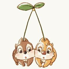 The cutest thing I've ever seen! Chip and Dale Disney Pixar, Arte Disney, Disney And Dreamworks, Disney Mickey, Disney Art, Cute Disney Drawings, Disney Sketches, Cartoon Drawings, Cute Drawings
