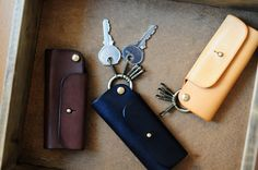 Handmade Mini Leather Key Holder