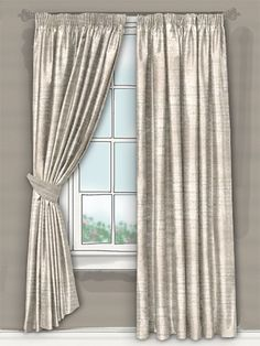 their delicate colouring will blend beautifully in neutral and natural environments alike, creating a warm and cosy atmosphere in your home... #faux #silk #curtain