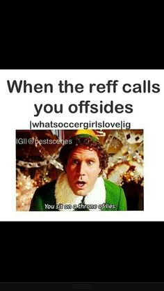 ive been called offside once in the past three years, so that's pretty good