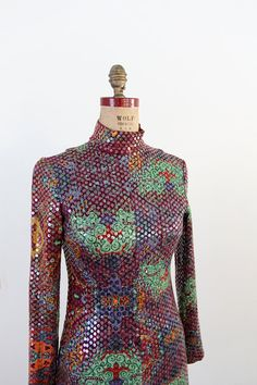 1960s sequin maxi dress / vintage Malcolm Starr by 86Vintage86, $680.00