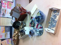 provocation : trace parts in various combinations. Interesting loose parts to explore- gets children to trace object to create a picture. Let their curiosity for materials blossom