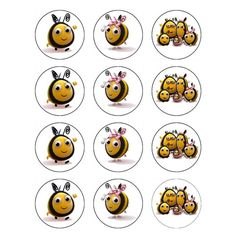 The Hive Edible Icing Cake Toppers - Buzzbee, Rubee and Family Mix