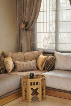 Moroccan living room – Moroccan living room design – Customized interior by latifazirf Home Room Design, Living Room Designs, Boho Living Room, Living Room Decor, Marocco Interior, Sofa Design, Interior Design, Design Salon, Moroccan Interiors