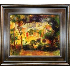 Looking Out at the Sacre Coeur, 1896 by Renoir Framed Painting Print on Canvas