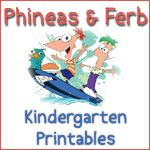 Phineas and Ferb activity sheets
