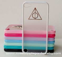 iPod Touch 5 Case, Harry potter Deathly Hallows , white translucent cover ,white Soft border case for Apple Ipod Touch 5 on Etsy, $9.99