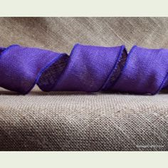 """Burlap Wired Ribbon 2 1/2"""" Purple Jute Burlap from  Cottage Crafts Online"""