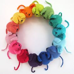 Plant Penny -KNITTED Rainbow Mouse Pattern  - £2.60