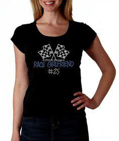 15cb97fa Race Girlfriend Custom RHINESTONE T Shirt or tank by Rhine Designs, $26.95  Visit https: