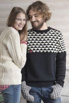 Miehen kirjoneulepusero Novita 7 Veljestä | Novita knits
