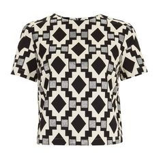 Topshop SS13 Geometric Print Top ❤ liked on Polyvore