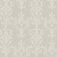 Interior Place - Gray Weathered Glitter Scroll Wallpaper, $35.99 (http://www.interiorplace.com/gray-weathered-glitter-scroll-wallpaper/)