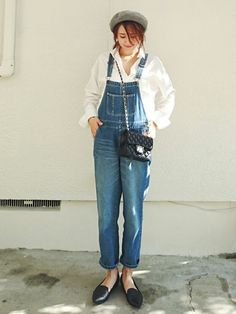 daily style from WEAR japan page Daily Look, Daily Style, Overalls Women, Mix Match, Daily Fashion, Bag Accessories, How To Make, How To Wear, Hipster