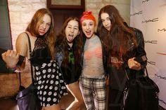 Este Haim, Alana Haim, Hayley Williams, and Danielle Haim