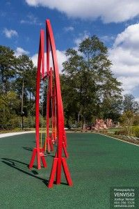 Abernathy Greenway park swings, The Big Imagine, by Jeff Hackney.  Sandy Springs playable art park.  Find more Atlanta neighborhood real estate photography at www.realtyclique.com