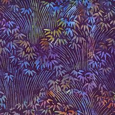Island Batiks KK01 Purple Cotton Batik Fabric