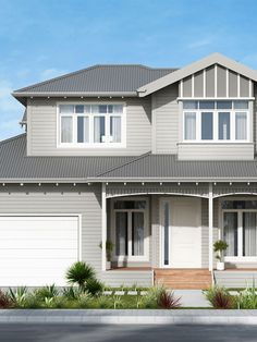 Contemporary Australian Weatherboard Custom designed for our Client's young family, this beautifully detailed Weatherboard home will provide all the functionality and comforts desired now and for the future. With focus on providing sunlight flooded living areas and bedrooms, this north oriented layout is centred around the family's most valued spaces, both indoor and out. Perspective …