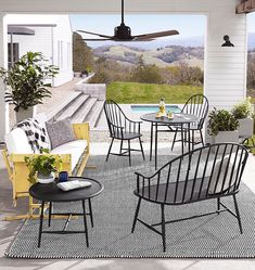 Contemporary Outdoor Furniture for your patio or yard comes in many forms. Outdoor Spaces, Outdoor Chairs, Indoor Outdoor, Outdoor Decor, Stone Patio Designs, Outdoor Wood Furniture, Antique Furniture, Furniture Plans, Painted Furniture