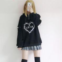 Black/white harajuku fashion hoodie sweatshirt SE10974      Use coupon code #cutekawaii for 10% off