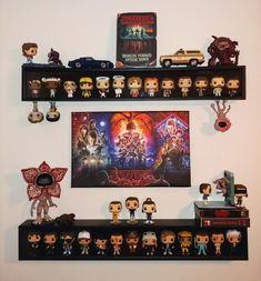 Discover recipes, home ideas, style inspiration and other ideas to try. Funko Pop Shelves, Funko Pop Display, Stranger Things Funko Pop, Marvel Room, Geek Room, Funk Pop, Game Room Design, Pop Collection, Pop Figures