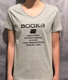 BOOKS - Introverting - Introvert - Funny Shirts -Introvert T-Shirt -Birthday Gifts -Bookworm - Bookworm Gifts - Christmas Gifts - Book Lover Funny Shirt Sayings, Shirts With Sayings, Funny Shirts, Sarcastic Shirts, Tee Shirts, Funny Sarcastic, Introvert Humor, Gifts For Bookworms, Casual Cosplay