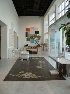 Waterworks Los Angeles Showroom Orchid Mosaic Floor