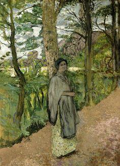 Woman in Grey in a Lane by Edouard Vuillard Size: 210x151 cm