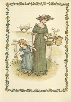February - Kate Greenaway's Almanack for 1897