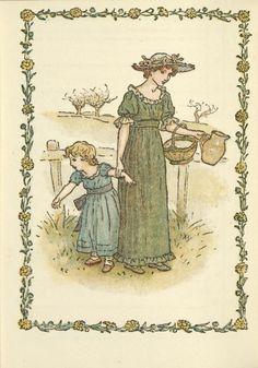 February - Kate Greenaway's Almanack for 1897