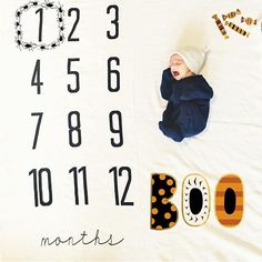 Spiders for October! Monthly Baby Photos, Monthly Pictures, Halloween Baby Pictures, Baby Halloween, Milestone Pictures, Baby Kids, Baby Boy, Baby Milestone Blanket, Gender Neutral Baby Clothes