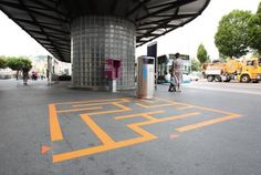 """To discourage residents tossing their empty cups and wrappers on the streets and sidewalks, the city launched its """"Lucerne Shines"""" program, which rolled out mazes, hopscotch boxes, and three point lines to make the act of trash disposal more fun. The project appeals to kids and is a great nostalgic throwback for adults alike — kudos to the Swiss town for this creative idea!"""