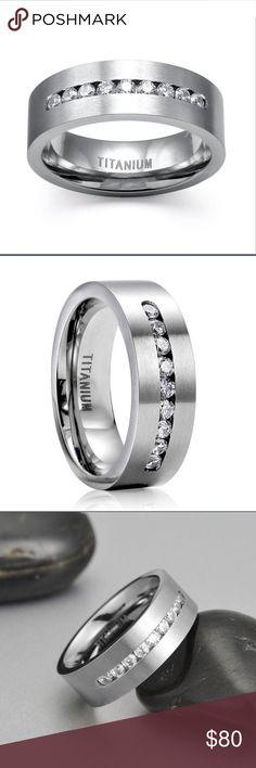 New unisex titanium ring New ring titanium, unisex . Size 7 . Risible if needed ! ✅ make me offer✅ Swarovski Jewelry Rings