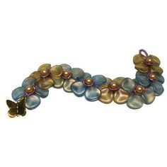 Flower Petal Bracelet Bead Kit-Blue & Green