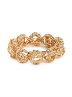 our gold knot bracelet...