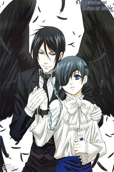 Black Butler- Ciel x Sebastian--ciel looks SOOO CUTE!! I wish black butler was a yaoi
