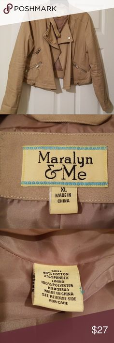 Khaki Jacket Worn only once! Very cute and in excellent condition! Maralyn & Me Jackets & Coats Blazers