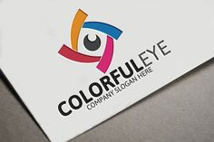 Colorful Eye Logo by josuf on Creative Market