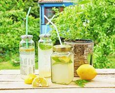 Rezept: Zitronenlimonade und Wassereis mit Zitronenverbene + DIY Trinkgläser