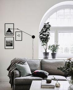 Interiors | Grey & White Swedish Apartment