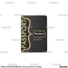 #Sold 2 | Classy #Gold and #Black #Passport #Holders
