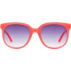 Matthew Williamson Sunglasses in Milky Neon Pink ($389) ❤ liked on Polyvore