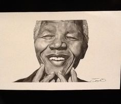 Casey's Nelson Mandela drawing. Mandela Drawing, Nelson Mandela, Portrait, Drawings, Inspiration, Art, Biblical Inspiration, Art Background, Headshot Photography