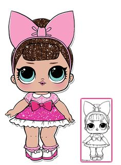 LOL Surprise Doll Coloring Pages – Color all of your favorite L. Cat Birthday, 6th Birthday Parties, Chibi Kawaii, Doll Party, Doll Stands, Cat Wallpaper, Lol Dolls, Doll Crafts, Paper Dolls