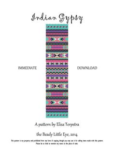 Indian Gypsy odd count peyote pattern for a by TheBeadyLittleEye, €3.25
